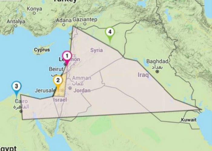 Biblical Boundaries Of The Land Of Israel The Israel Bible - Map of egypt in bible times
