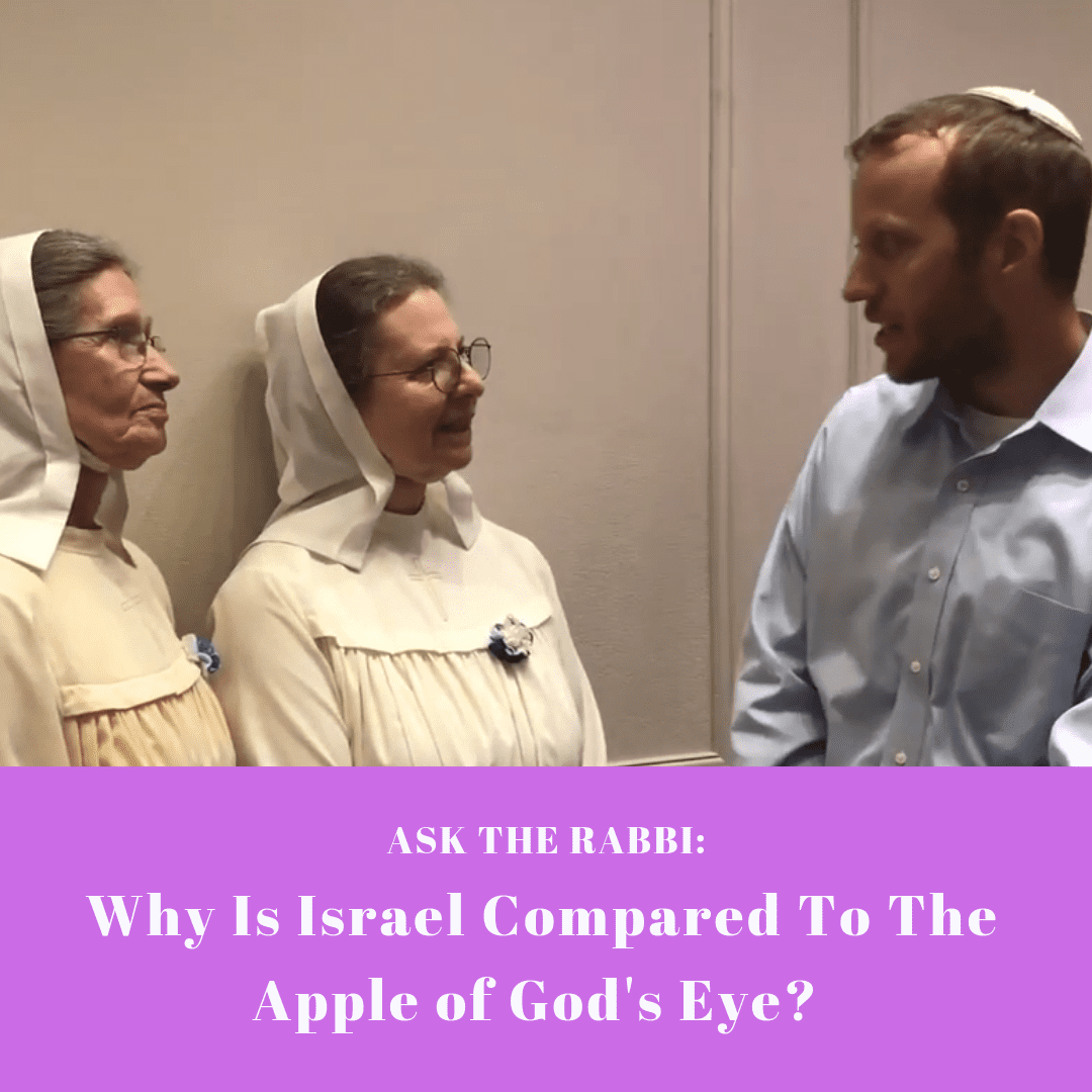 Ask the Rabbi: Why is Israel compared to the Apple of God's Eye? Zachariah 2:12