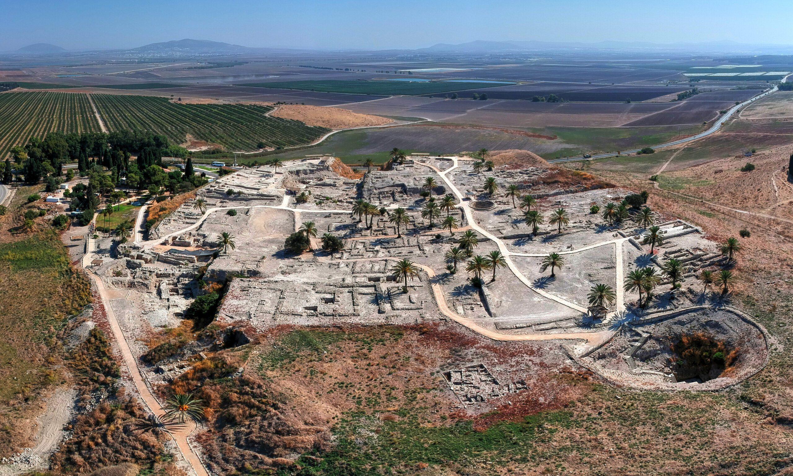 Tel Megiddo, Mount Megiddo in northern Israel, photo by Eli Schwartz